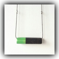 Minimalist Black & Green Bar Necklace Gift Boxed Christmas Birthday Gift