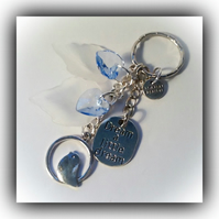 'Dream a Little Dream' Bag Charm Keyring Gift Boxed Birthday Xmas Woman Friend