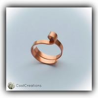 Twisted Copper Adjustable Chunky Ring Gift Boxed Birthday Valentine Gift