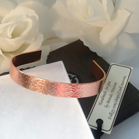 Hammered Copper Cuff Bangle Adjustable Gift Boxed Birthday Mothers Day Gift