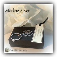 Sterling Silver Cubic Zirconia Solitaire Ring Gift Boxed Mothers Day Promise