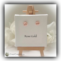 Rose Gold 'Rosebud' Ear Studs Handmade Gift Boxed Birthday Girlfriend Gift