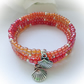 Beach Ready Orange & Red Boho Summer Bracelet Gift Boxed Gift