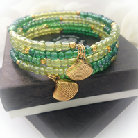 Beach Ready Green Boho Bracelet Gift Boxed Birthday Summer Gift