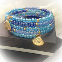 Beach Ready Blue Boho Bracelet Gift Boxed Summer Ladies Gift