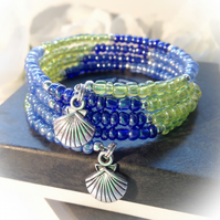Beach Ready Blue & Green Boho Summer Bracelet Gift Boxed Birthday Gift