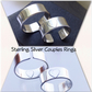 Sterling Silver Couples or Promise Heart Rings