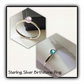 Sterling Silver Crystal Birthstone Ring Gift Boxed Birthday Ladies Gift Teens