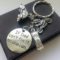 Gift for Dad Message Cars Keyring Gift Boxed Men's Gift Daddy