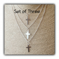Set of Three Layered Boho Necklaces Gift Boxed Ladies Teens Gift