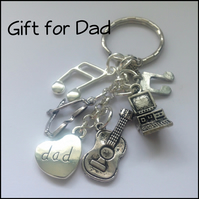 Gift for Dad Techno Geek Keyring Gift Boxed Birthday Father Dad