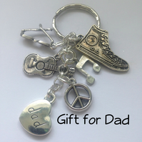 Gift for Dad Cool Dude Keyring Gift Boxed Father Dad Birthday Gift