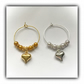 Gold or Silver Wine Glass Charms Wedding Bridal Favours Reception Table Decor