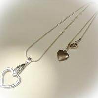 Heart Shaped Pendant Necklace Silver Gift Boxed Birthday Christmas Gift