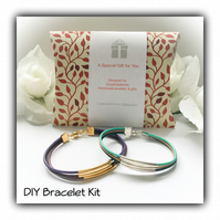DIY Mix & Match Leather Bracelet Kit Magnetic Clasp Gift Boxed Birthday Gift