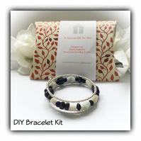 DIY Black & Silver Bracelet Kit perfect gift idea Birthday Christmas Mother