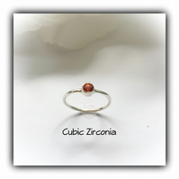 Sterling Silver Red Cubic Zirconia Solitaire Ring Gift Boxed Birthday Promise