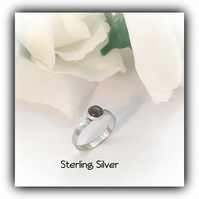 Sterling Silver Gemstone Ring Size P Gift Boxed Christmas Birthday Gift Idea