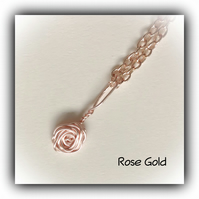 Rose Gold Rosebud Pendant Necklace Gift Boxed Birthday Valentine Mother Gift