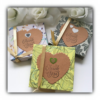 Scented Decorated Tea Lights THANK YOU Gift Set Personalised Gift Boxed Gift