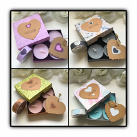 Scented Decorated Tea Lights WITH LOVE Gift Set