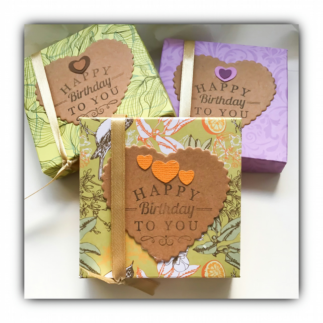 Scented Decorated Tea Lights HAPPY BIRTHDAY TO YOU Gift Set