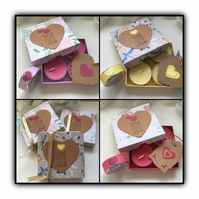 Scented Decorated Tea Lights WITH LOTS OF LOVE Candles Gift Set