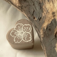 heart shaped trinket box with flower