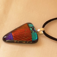 SALE- Dichroic glass pendant