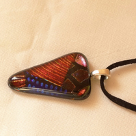 SALE - Dichroic glass pendant