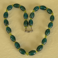 SALE - sparkly teal necklace