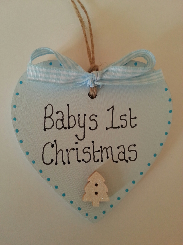 wooden heart christmas decorations 2