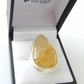 Golden Rutile Quartz Silver Ring