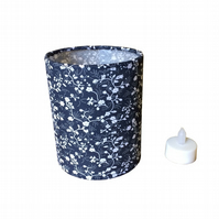 Charms Pretty Floral Navy and White Fabric covered Lantern