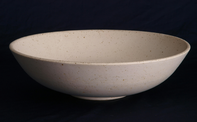 Made To Order Large White Hand Thrown Pottery Fruit Bowl