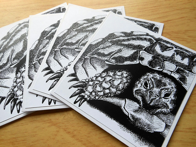 Tortoise notecards x 4