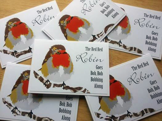 Red, Red Robin Cards ( Pack of 6)