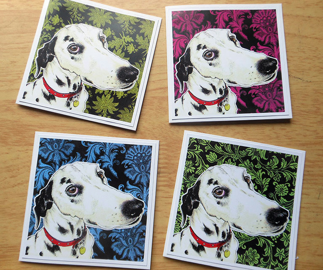 Dalmatian note cards (4 pack)