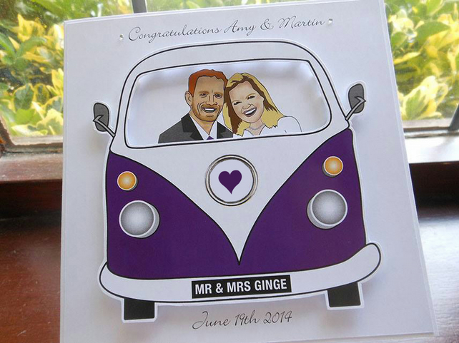 Wedding Campervan Card
