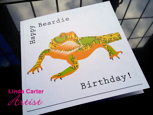 Bearded Dragon Birthday Card