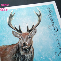 Stag Christmas card Pack of 6