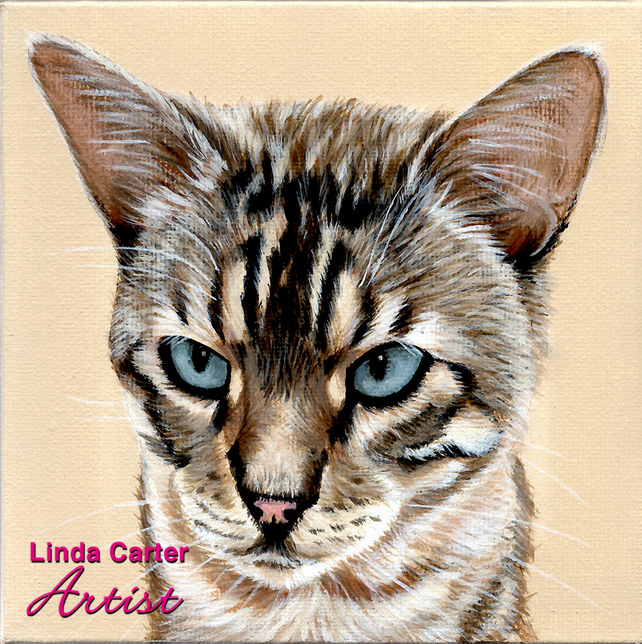 Custom pet portrait, Custom dog painting, Custom cat, painting, Pet memorial