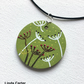 Acrylic painted pendant, dandelion design necklace