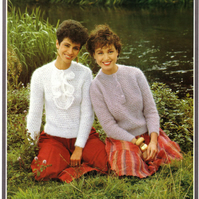 Vintage Hand Knitting Pattern 1713: from Richard Poppleton, 2 Mohair Sweaters