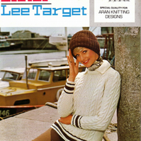 Vintage Hand Knitting Pattern  K595: from Lister Lee, Aran Sweater