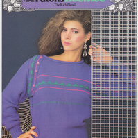 Vintage Knitting Pattern B7322: from Patons, Asymmetric Sleeved Sweater