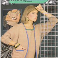 Vintage Knitting Pattern B7323: from Patons, A Batwing Twin Set