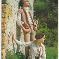Vintage Knitting Pattern 1551: from Patons, Unisex Gilet or Waistcoat