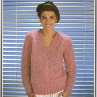Vintage Knitting Pattern 1782:  Richard Poppleton Mohair Type Sweater
