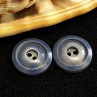 Vintage Buttons: Dark Blue 2-Toned (Hombre Coloured) 2x19mm